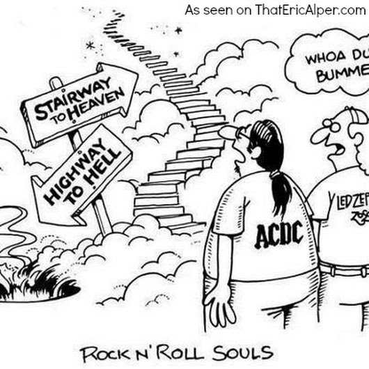 530x530 Cartoon Stairway To Heaven Or Highway To Hell