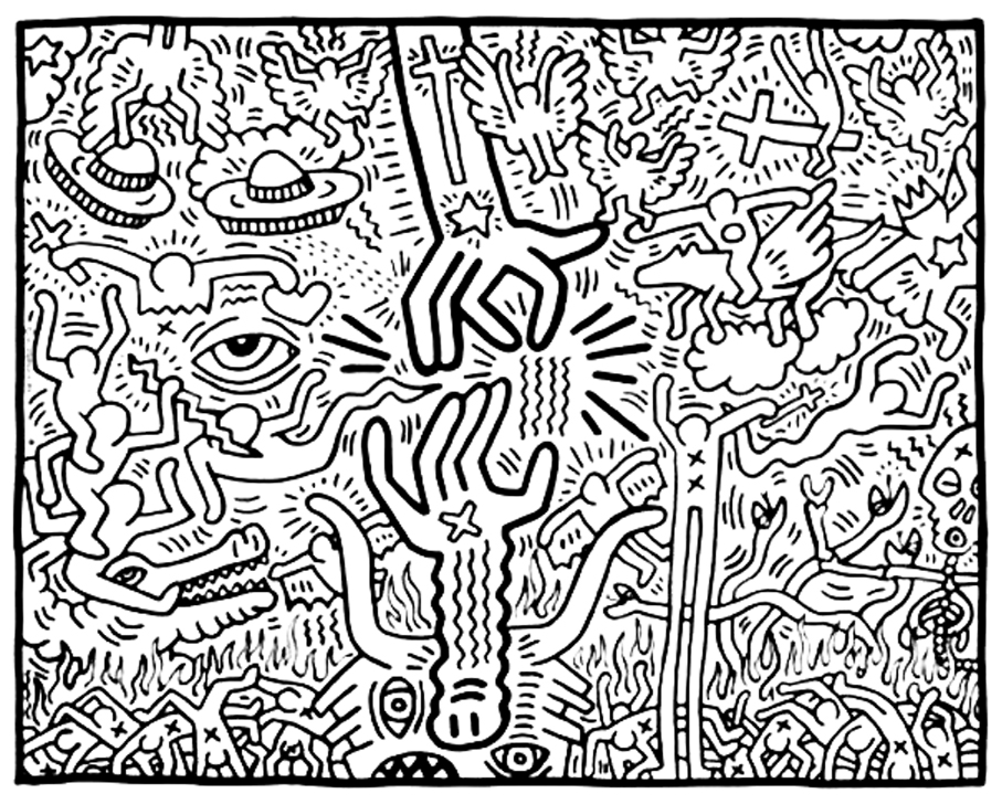 907x728 The Marriage Of Heaven And Hell, 1984 Keith Haring