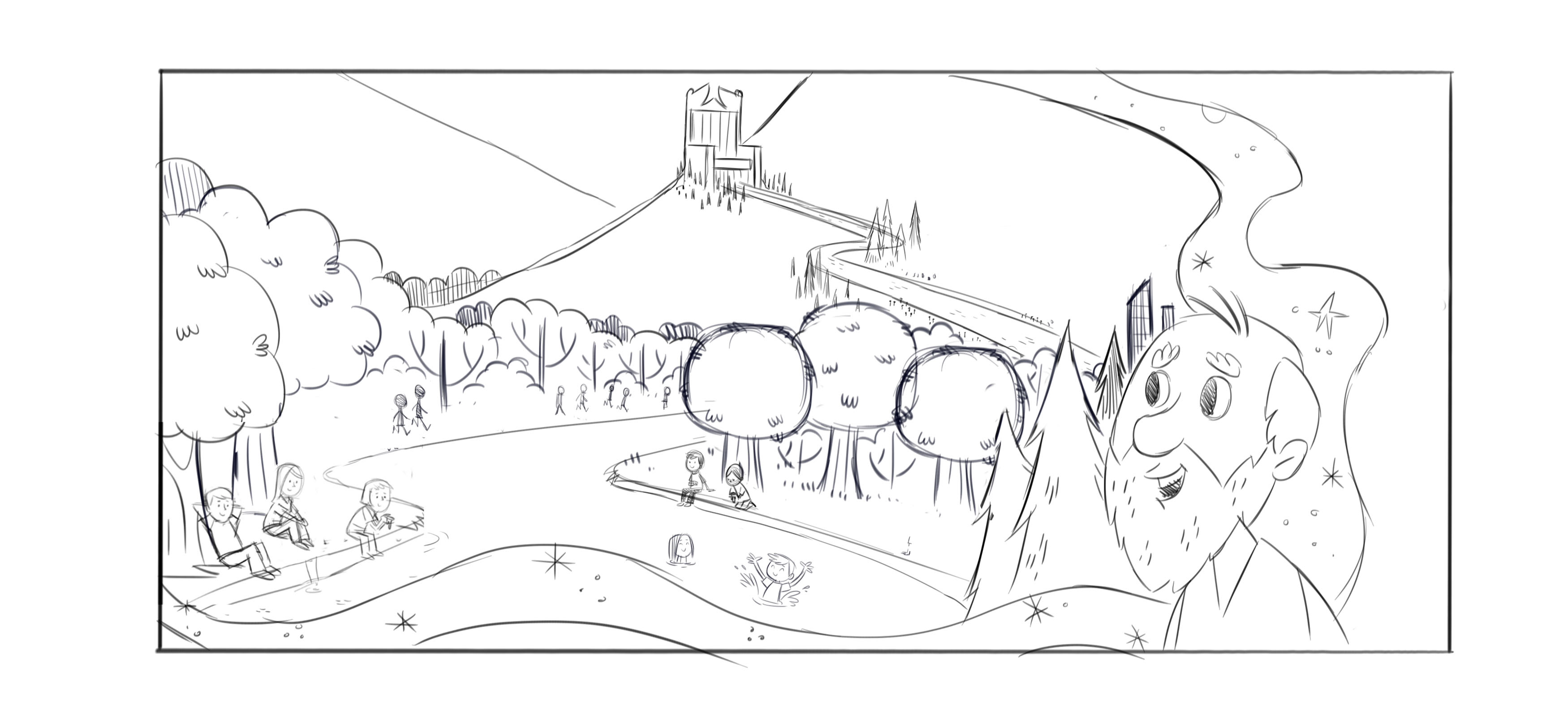 3500x1600 Heaven Coloring Pages Free Of Key To Kingdom