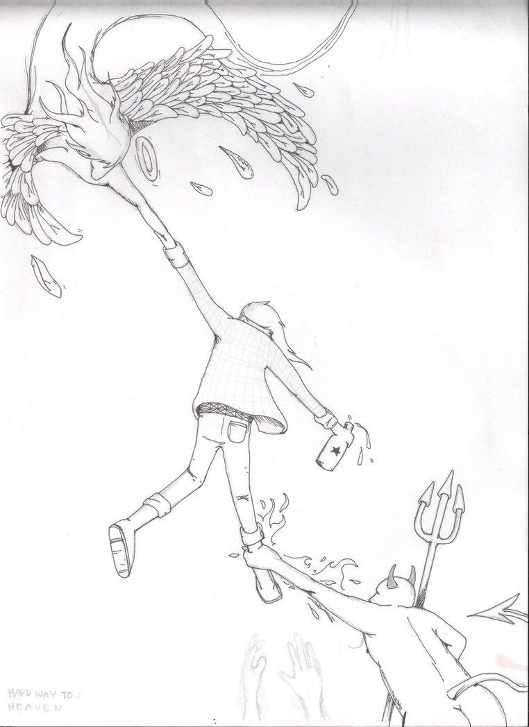 762x1048 Hard Way To Heaven Sketch By Adty83