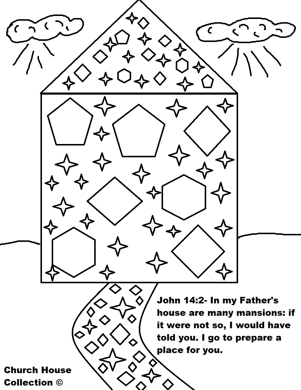 1019x1319 Heavenly Abode Coloring Pages