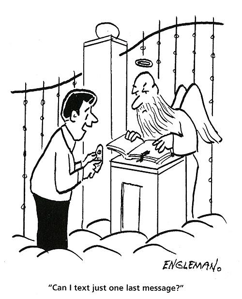 500x617 Cartoons Heaven The Saturday Evening Post