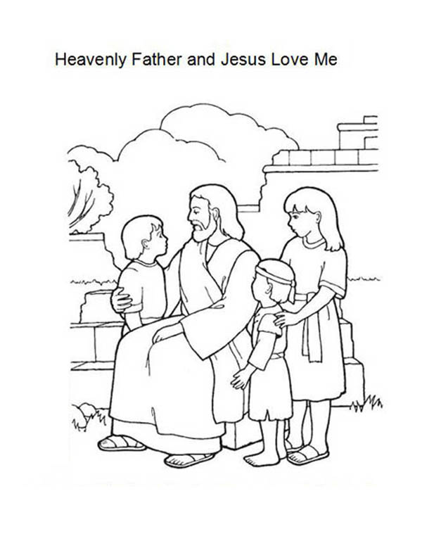 600x779 Heavenly Father And Jesus Love Me Coloring Page Color Luna
