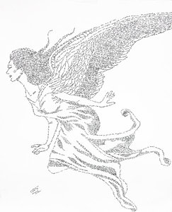 243x300 Heavenly Host Drawing By Lorraine Foster