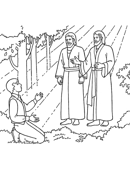 447x596 The First Vision Joseph Sees God The Father And Jesus Christ