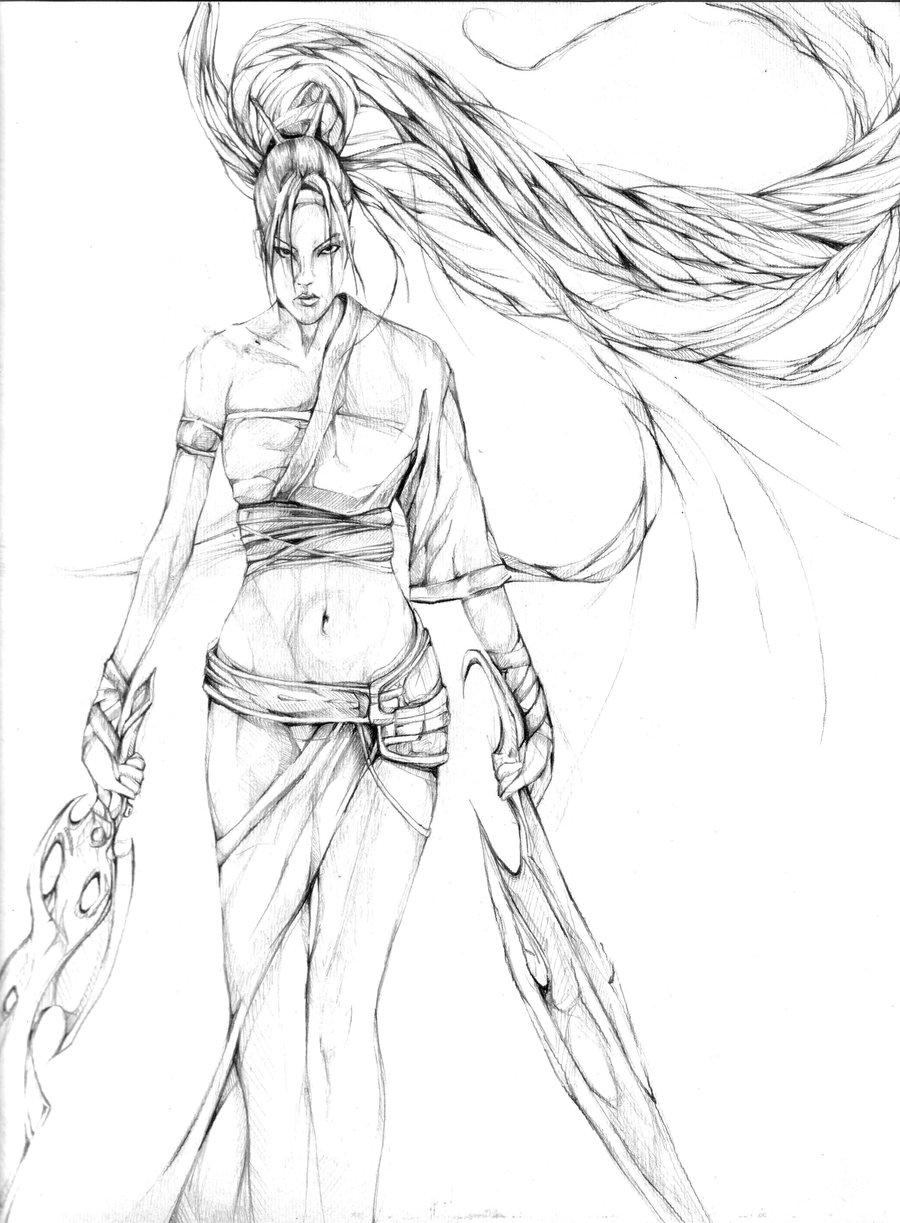 900x1223 Heavenly Sword By Amyor94