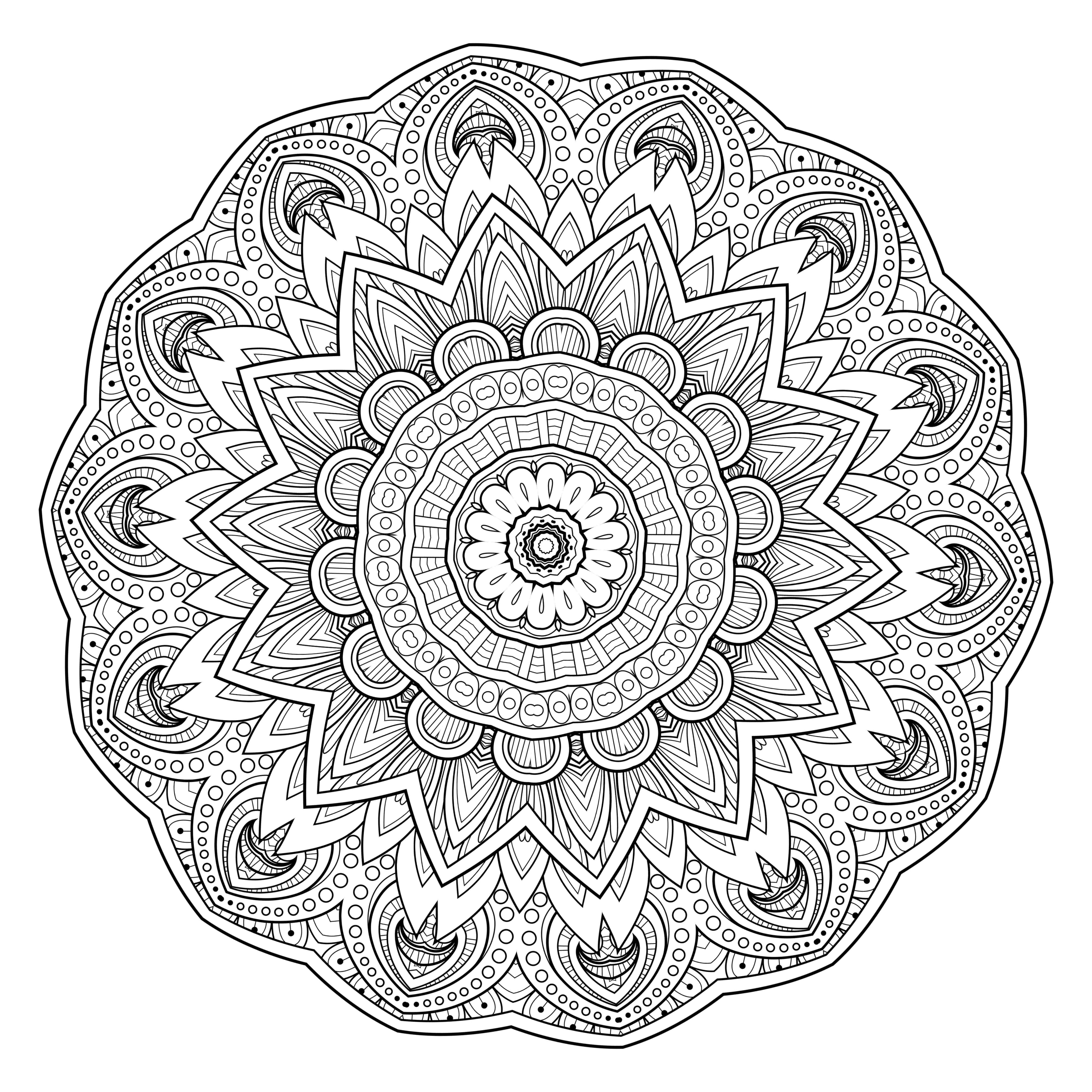 4000x4000 5 Free Printable Coloring Pages Mandala Templates Free