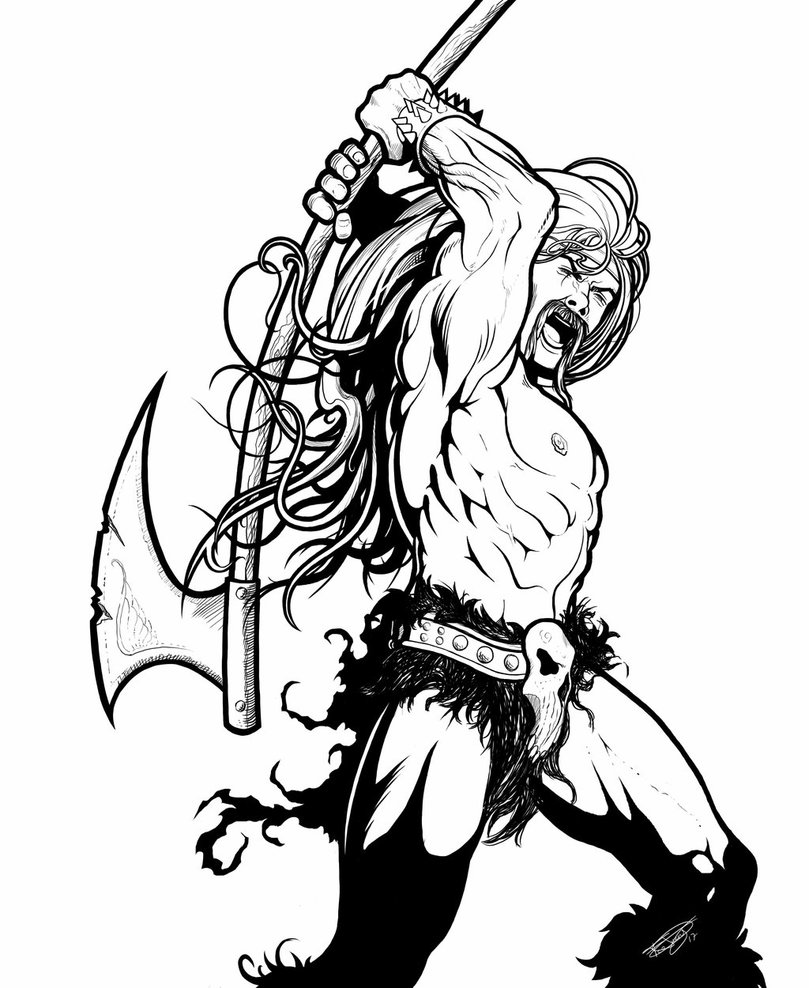 809x988 Heavy Metal Barbarian By Malverro