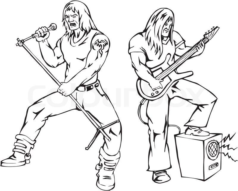 800x640 Heavy Metal Rock Singers Stock Vector Colourbox