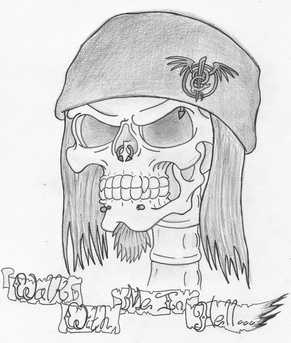 600x707 Skull Self Portrait By Heavy Metal Ink