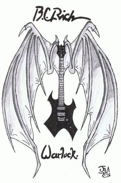 400x605 Winged B.c.rich Warlock By Heavy Metal Ink