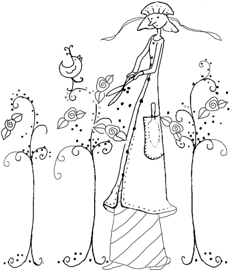800x908 Hazel Hedge I Must Remember To Draw This!! Vintage Embroidery