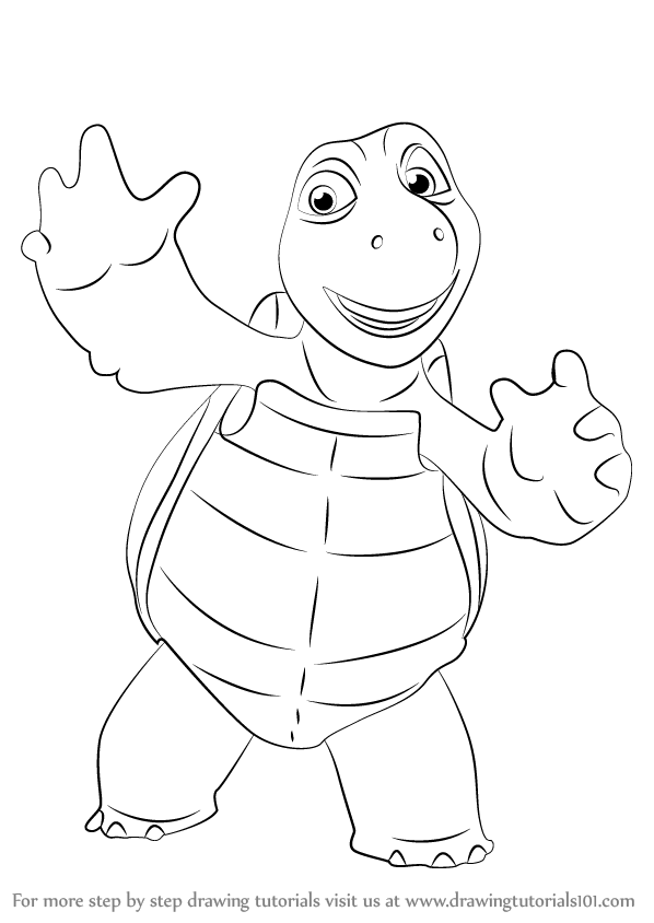 598x844 Learn How To Draw Verne From Over The Hedge (Over The Hedge) Step
