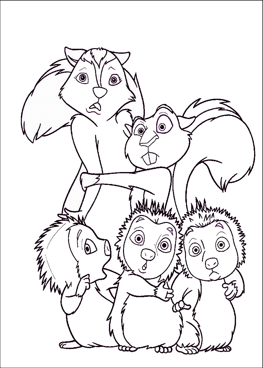 857x1200 Over The Hedge Coloring Pages