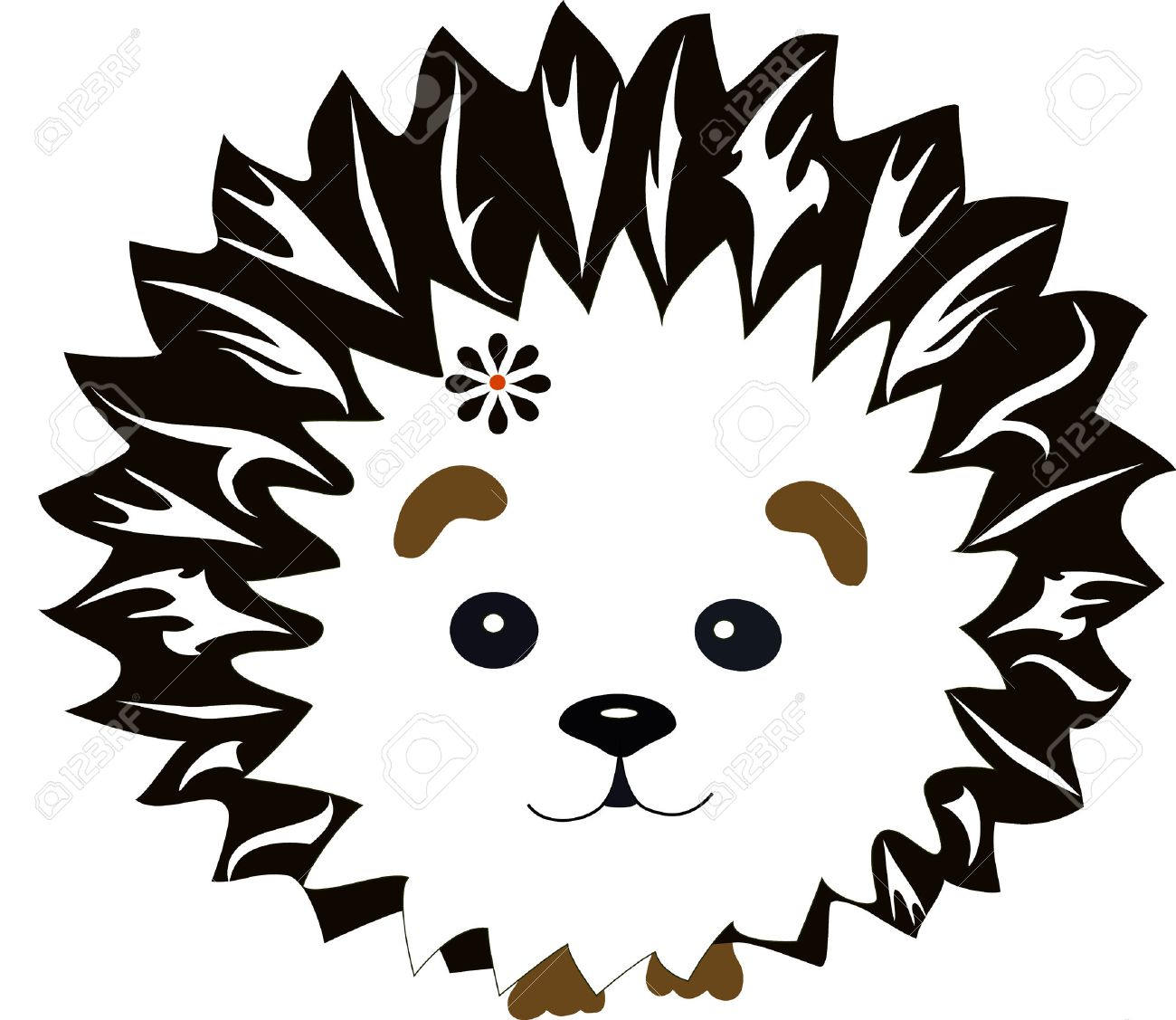 1300x1127 Hedgehog With A Pattern, An Animal From The Wood, The Animation