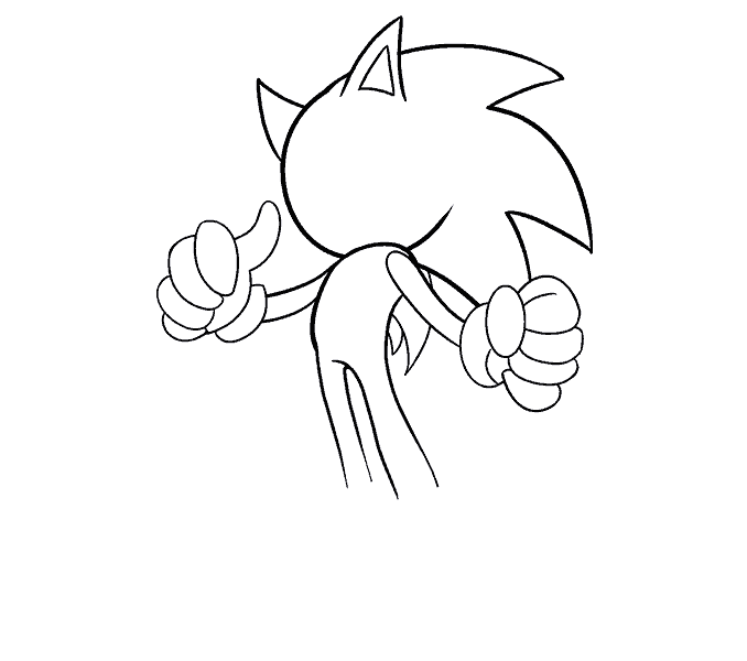 678x600 How To Draw Sonic The Hedgehog In A Few Easy Steps Easy Drawing