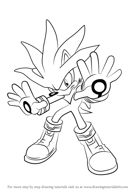 566x800 Learn How To Draw Silver The Hedgehog From Sonic The Hedgehog