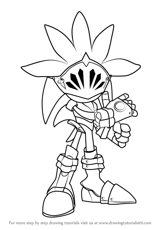 566x800 Learn How To Draw Sir Galahad From Sonic Hedgehog (Sonic
