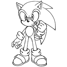 230x230 Sonic The Hedgehog Coloring Pages To Print Printable For Beatiful
