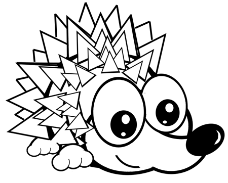 450x362 How To Draw Cartoon Hedgehogs With Easy Step By Step Drawing