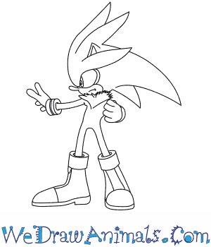 300x350 How To Draw Silver The Hedgehog
