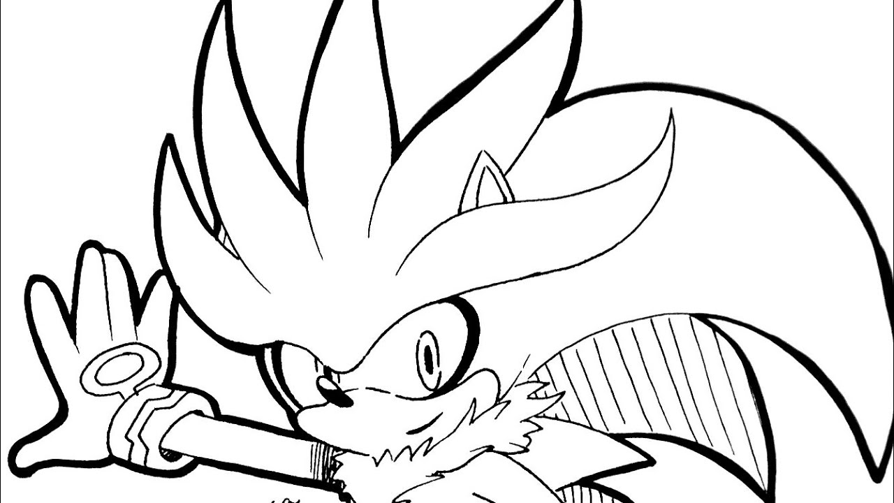 1280x720 How To Draw Silver The Hedgehog