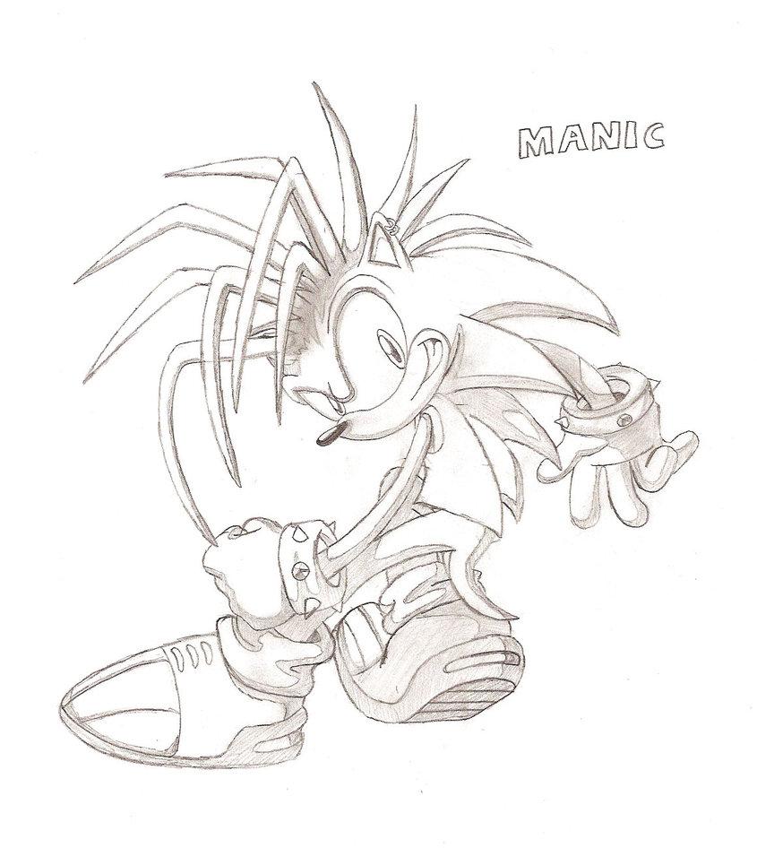 845x946 Manic The Hedgehog Sketch By Mainnine