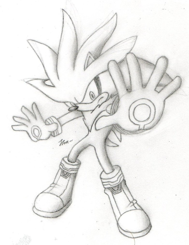784x1018 Silver The Hedgehog Black And White By Jupiterfire9774