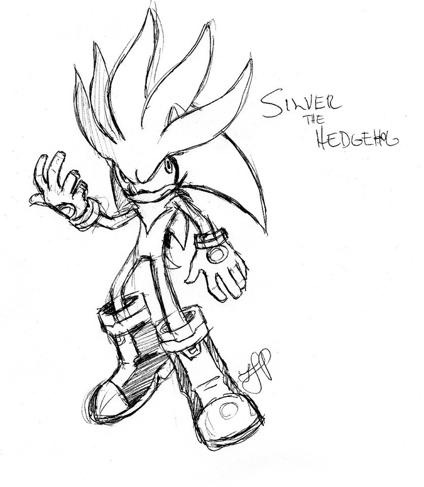 835x957 Silver The Hedgehog By Arvalis