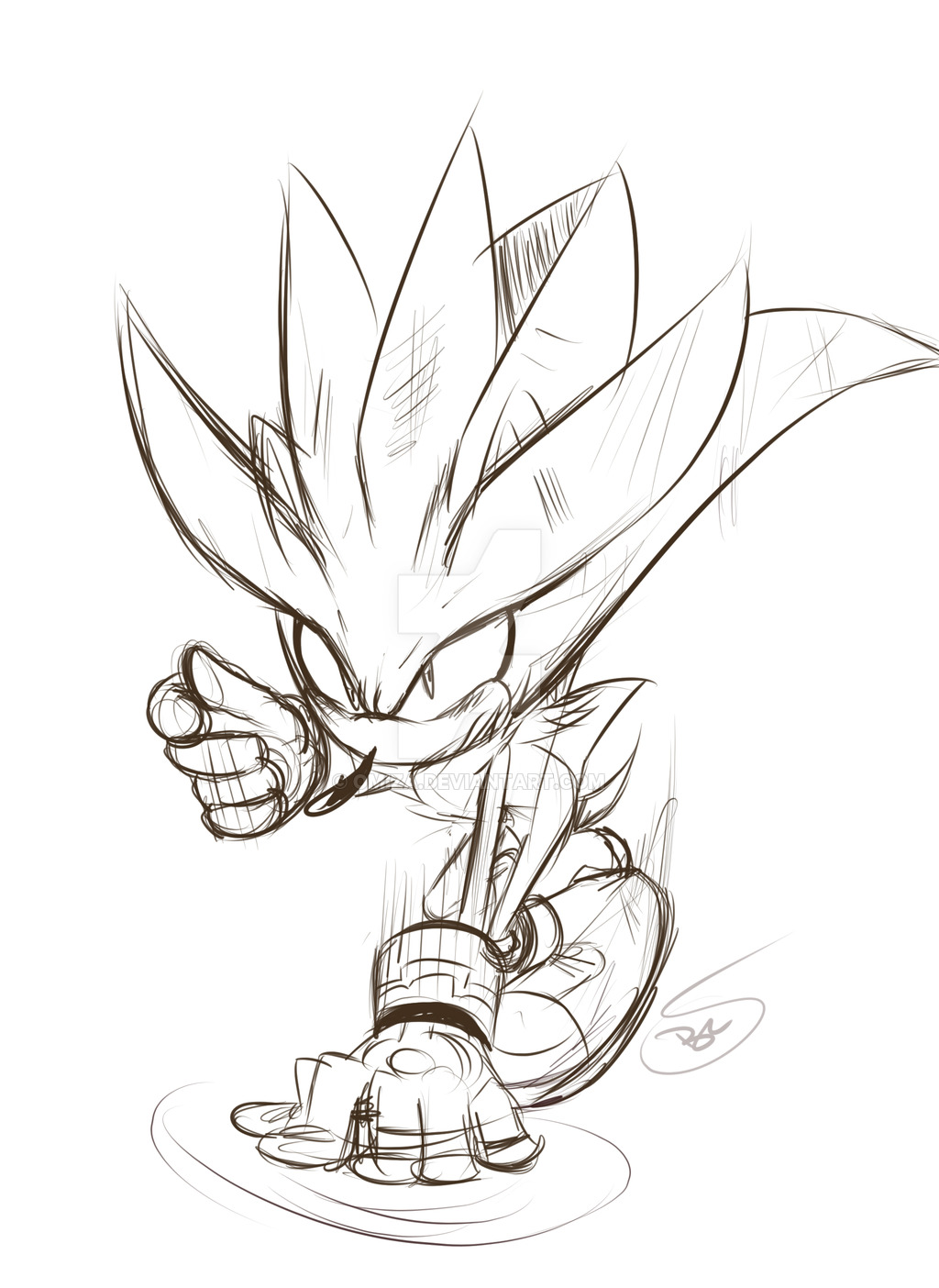 1024x1404 Sketch Silver The Hedgehog By Omiza Zu