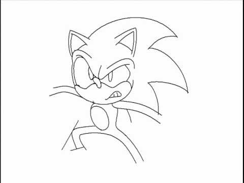 480x360 Drawing Sonic The Hedgehog Using Ms Paint