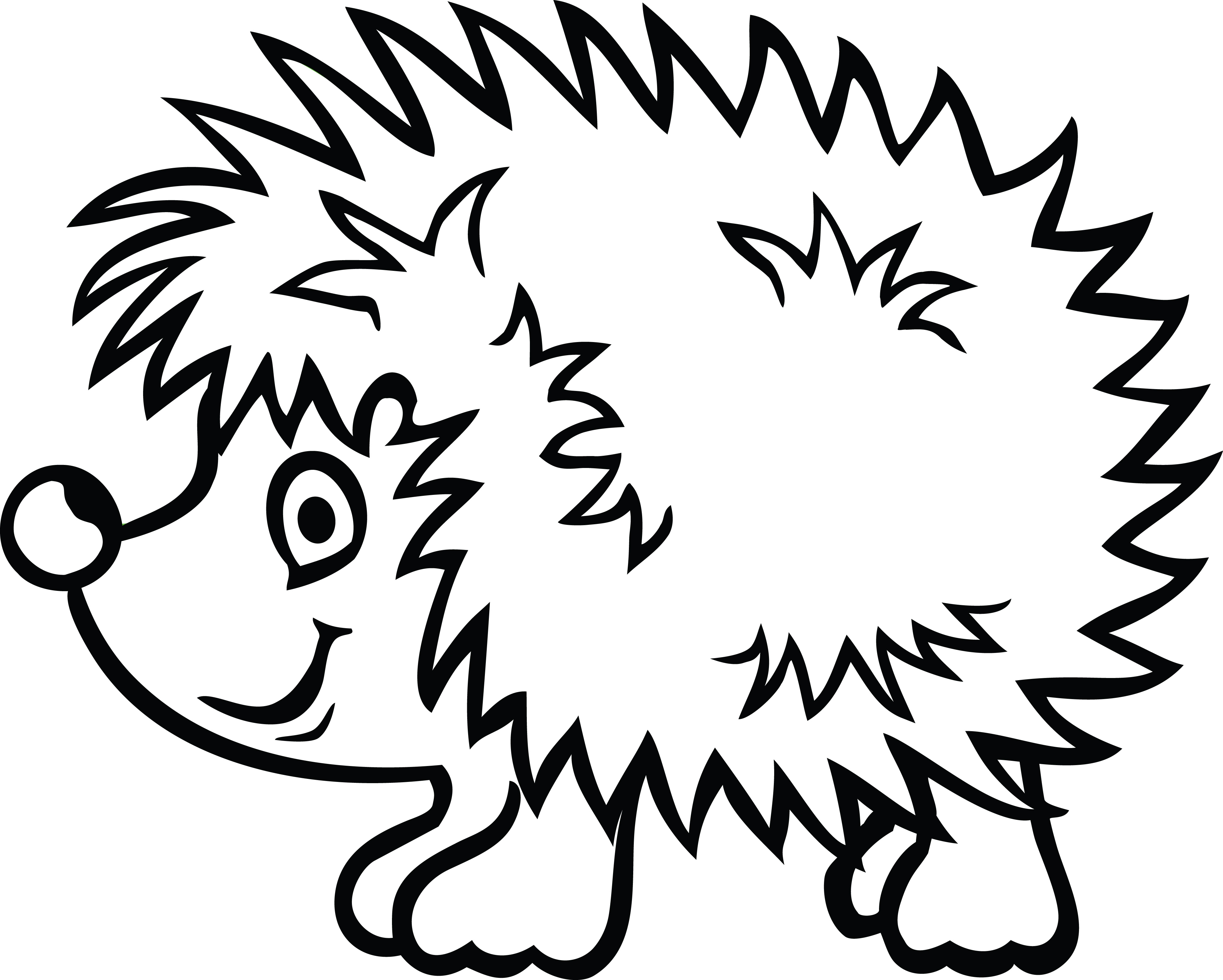 4000x3206 Hedgehog Png Black And White Transparent Hedgehog Black And White