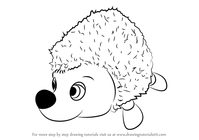 800x565 Learn How To Draw Hedgehog From Masha And Bear (Masha And