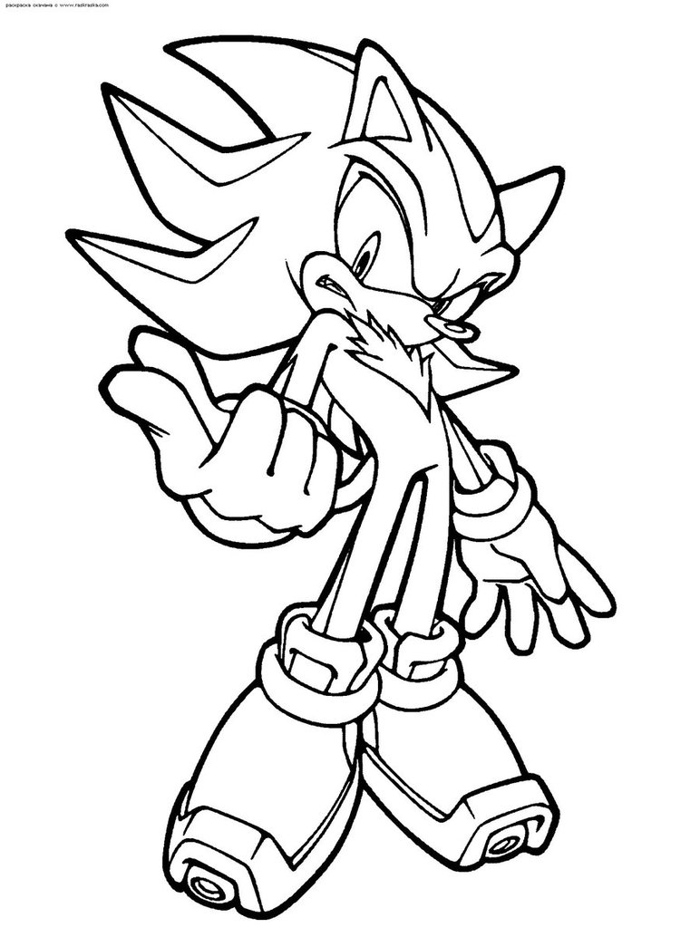 772x1034 Shadow The Hedgehog Coloring Page By Scourgexnazo2