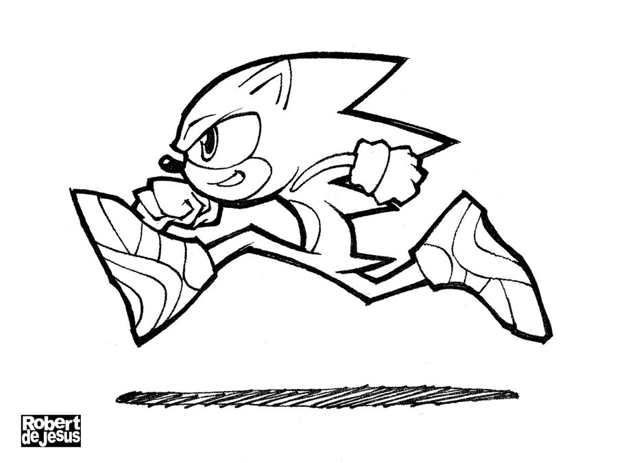 900x675 Sonic The Hedgehog Line Art By Banzchan