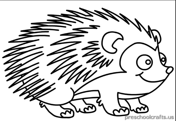 581x399 Printable Hedgehog Coloring Pages For Kids