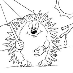 236x236 Hedgehog Coloring Picture Animals Coloring Pages
