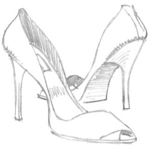 300x300 High Heel Shoes Drawing Project