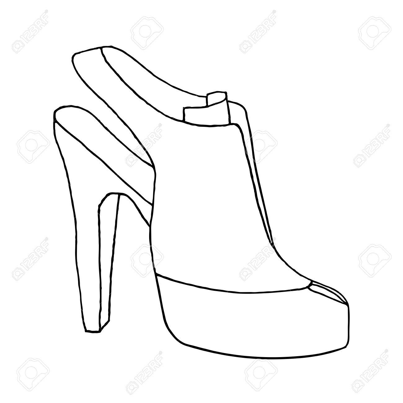 1300x1300 High Heel Woman Shoe. Shoe With Stiletto Heel. Fashion