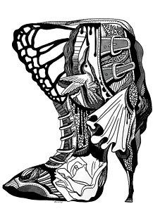 227x300 High Heels Drawings