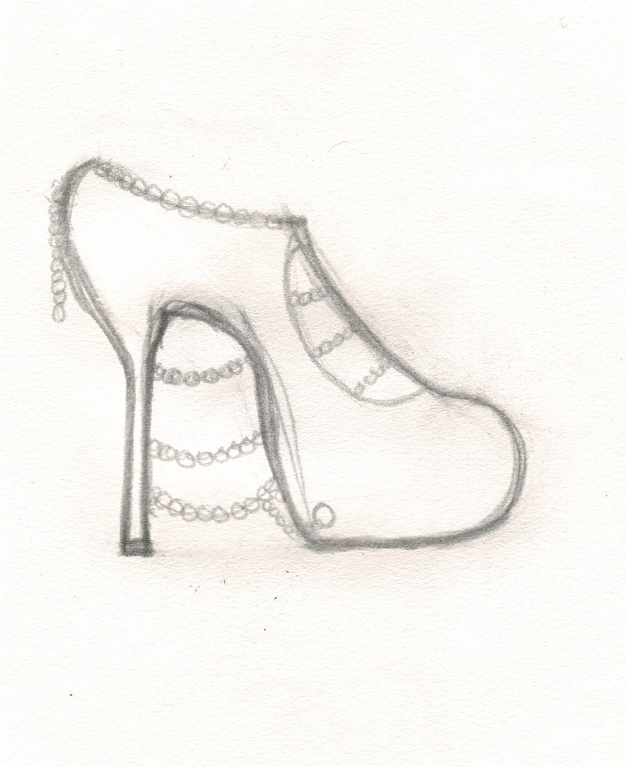 900x1102 High Heel Design Sketch By Unknownxmurexa