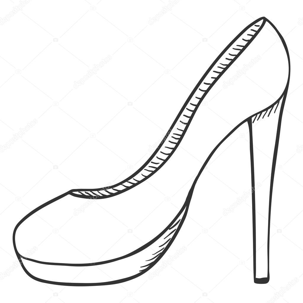 1024x1024 Women High Heel Shoes. Stock Vector Nikiteev