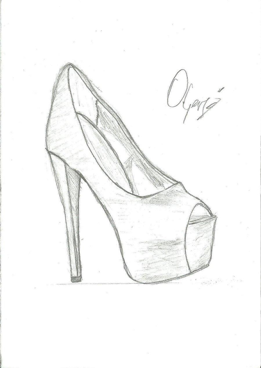 900x1271 Drawing Of High Heels Drawing Shoes Sketch High Heel Shoe Drawing