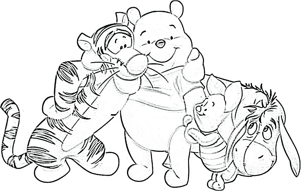 1024x649 Stunning Pooh Coloring Pages Image The Sun Flower Photo Poohs