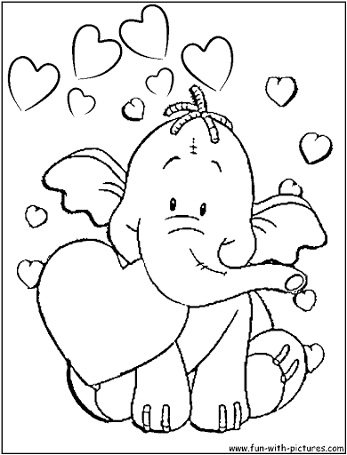 390x512 Coloring Pages For Kids Heffalump