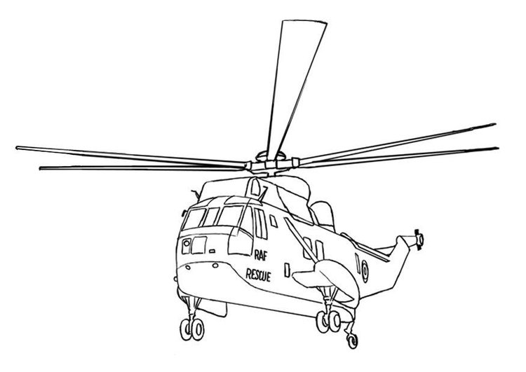 750x531 Coloring Page Helicopter