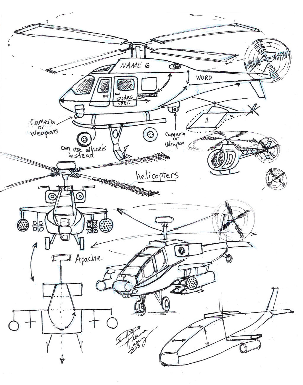 1024x1299 Draw Helicopters By Diana Huang