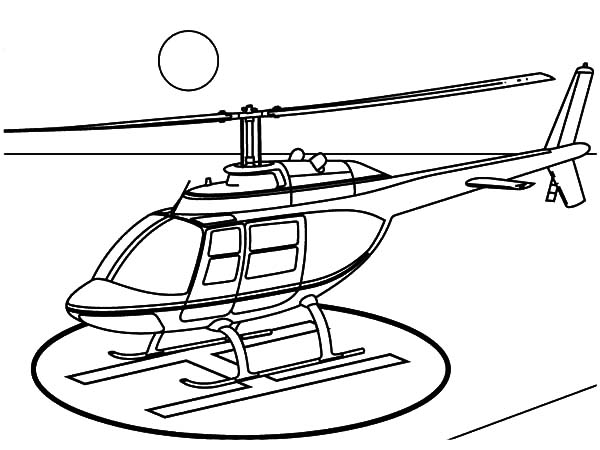 600x450 Helicopter Landing On Helipad Coloring Pages Coloring Sun