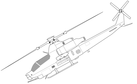 480x294 Bell Ah 1z Viper Helicopter Coloring Page Free Printable