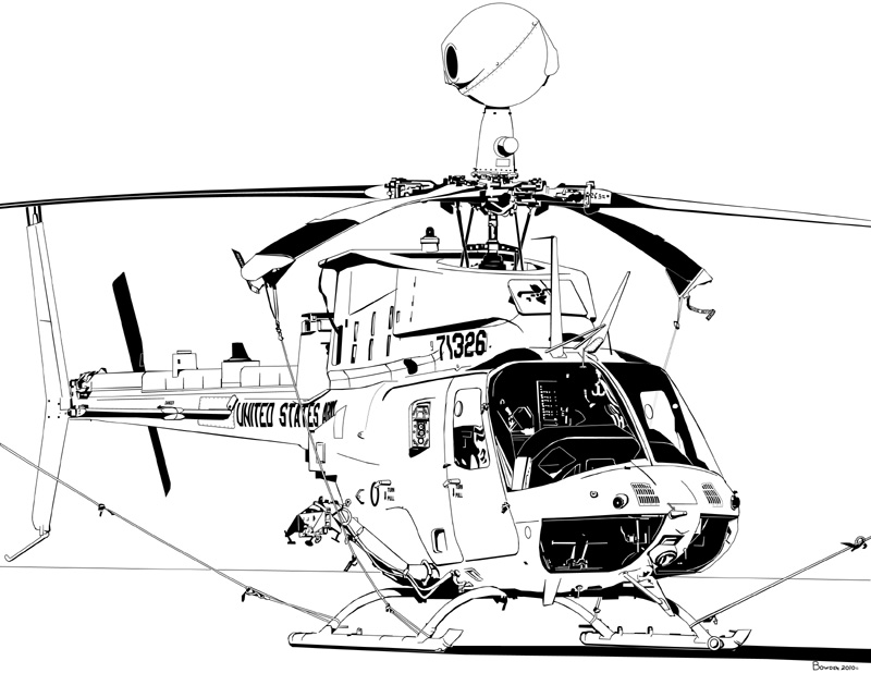 800x618 Bell Oh 58d Kiowa Warrior Armed Reconnaissance Helicopter My Ink